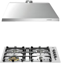"2-Piece Stainless Steel Kitchen Package with QB30M400X 30"" Natural Gas Cooktop and KU30PRO1X14 30"" Canopy Hood"