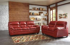 Jaylee Collection MI-9825SL-CRIM 2-Piece Living Room Set with Sofa and Loveseat in Crimson