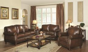 Montbrook Collection 503981SET 3 PC Living Room Set with Sofa + Loveseat + Chair in Hand Rubbed Brown Color