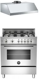 "2-Piece Stainless Steel Kitchen Package With PRO304GASXLP 30"" Professional Series Gas Freestanding Range and Free KU30PRO1XV 30"" Professional Series Hood"