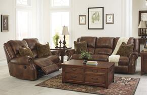 Walworth U78001SL 2-Piece Living Room Set with Reclining Sofa and Reclining Loveseat in Auburn