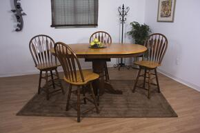 Sunset Selections Collection DLU-TBX4266CB-B24-NLO5PC 5 Piece Pub Table Set with Oval Table + 4 Swivel Barstools