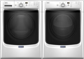 "White Front Load Laundry Pair with MHW3505FW 27"" Washer and MGD3500FW 27"" Gas Dryer"