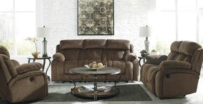 86503883PC Stricklin 3 PC Living Room Sets with Reclining Sofa + Reclining Loveseat + Rocker Recliner in Chocolate Color
