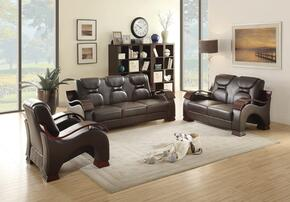 G485SET 3 PC Living Room Set with Sofa + Loveseat + Armchair in Cappuccino Color
