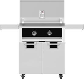 "30"" Natural Gas Grill with ECD30BK Tower Grill Cart with Two Doors, in Stealth Black"