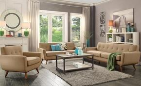 Mari Collection EM229WALTAUSET 3 PC Living Room Set with Sofa + Loveseat + Lounge Chair in Taupe Color