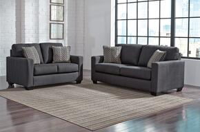 Bavello Collection 97301SL 2-Piece Living Room Set with Sofa and Loveseat in Indigo