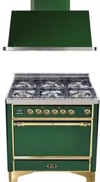 2-Piece Emerald Green Kitchen Package with UMC906DMPVS 36