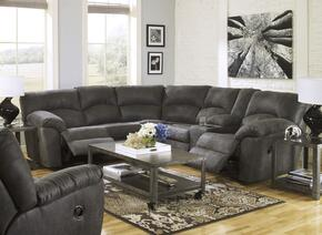 Tambo 27801SSR 2-Piece Living Room Set with Sectional Sofa and Rocker Recliner in Pewter