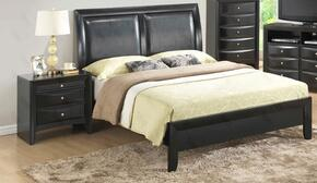 G1500AKBN 2 Piece Set including King Size Bed and Nightstand  in Black