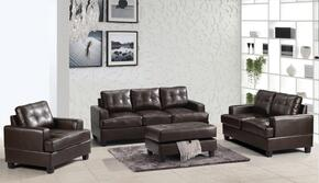 G585ASET 3 PC Living Room Set with Sofa + Loveseat + Armchair in Cappuccino Color