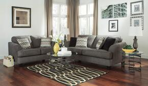 Gayler 41201SL3TR2L 8-Piece Living Room Set with Sofa, Loveseat, 3PC Table Set, Rug and 2 Lamps in Steel