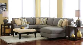 Peyton Collection MI-58594RCHSSACO2ETR2L-ALLO 7-Piece Living Room Set with 4PC Right Chaise Sectional, Accent Ottoman, 2 End Tables, Rug and 2 Lamps in Alloy