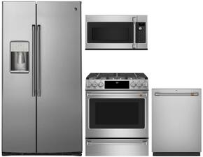 "4-Piece Kitchen Package with CZS22MSKSS 36"" Side by Side Refrigerator, CVM9215SLSS 30"" Over the Range Microwave, CV936MSS 30"" Wall Mount Ducted Hood, and a free CDT835SSJSS 24"" Built In Fully Integrated Dishwasher in Stainless Ste"