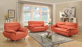 G439SET 3 PC Living Room Set with Sofa + Loveseat + Armchair in Orange Color