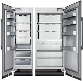 "60"" Panel Ready Side-by-Side Column Refrigerator Set with DRR24980LAP 24"" Left Hinge Refrigerator, and DRZ36980RAP 36"" Right Hinge Freezer"