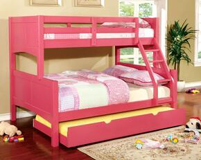 Prismo II Collection CMBK608FPKBEDT 2 PC Bedroom Set withTwin Over Full Bunk Bed + Trundle in Pink Finish