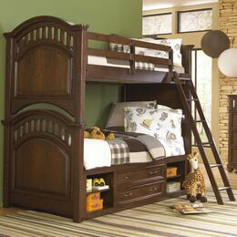 Expedition 84687303132SETA 2 PC Bedroom Set with Twin Size Bunk Bed + Underbed Storage Unit in Cherry Finish