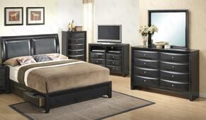 G1500DDTSB2DM 3 Piece Set including Twin Size Bed, Dresser and Mirror  in Black
