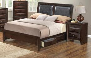 G1525DDQSB2N 2 Piece Set including  Queen Size Bed and Nightstand  in Cappuccino