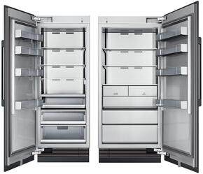 "60"" Panel Ready Side-by-Side Column Refrigerator Set with DRR30980LAP 30"" Left Hinge Refrigerator, and DRZ36980RAP 36"" Right Hinge Freezer"