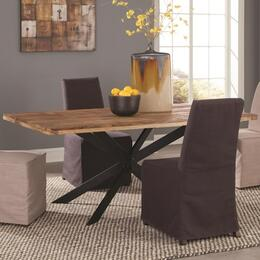 "Galloway 106721 40"" Dining Table and 4 Dining Chairs Beige Slip Cover"