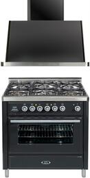 2-Piece Matte Graphite Kitchen Package with UMT906DVGGM 36