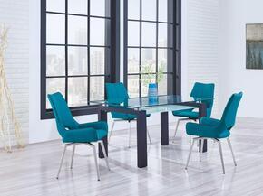 Global Furniture USA D646DT4D4878DCTURQ