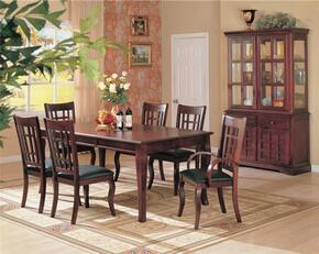 Newhouse 100500SET 8 PC Dining Room Set with Table + 4 Side Chairs + 2 Arm Chairs + China Cabinet in Cherry Finish