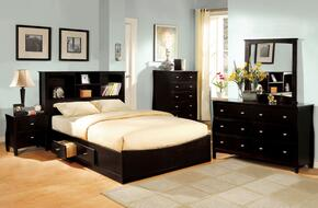 Brooklyn Collection CM7053FBEDSET 5 PC Bedroom Set with Full Size Platform Bed + Dresser + Mirror + Chest + Nightstand in Espresso Finish