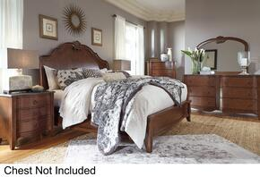Balinder Queen Bedroom Set with Sleigh Bed, Dresser, Mirror and Nightstand in Medium Brown