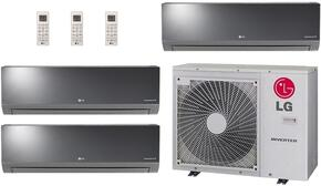 Triple Zone Mini Split Air Conditioner System with 36000 BTU Cooling Capacity, 3 Indoor Units, and Outdoor Unit