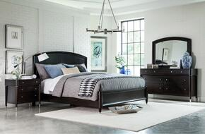Vibe 4257KPBNDM 4-Piece Bedroom Set with King Panel Bed, Nightstand, Dresser and Mirror in Brown Finish