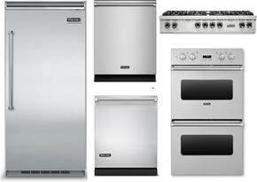 "5-Piece Stainless Steel Kitchen Package with VCRB5363RSS 36"" All Refrigerator, VRT5488BSS 48"" Gas Cooktop, VEDO1302SS 30"" Double Wall Oven, VDW302SS 24"" Fully Integrated Dishwasher, and FDW302WS 24"" Fully Integrated Dishwasher"