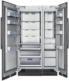 "48"" Panel Ready Side-by-Side Column Refrigerator Set with DRZ18980RAP 18"" Right Hinge Freezer, DRR30980LAP 30"" Left Hinge Refrigerator, and Installation Kit"