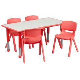 Flash Furniture YUYCY0600034RECTTBLREDGG