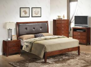 G1200AFBNTV 3 Piece Set including Full Bed, Nightstand and Media Chest in Cherry
