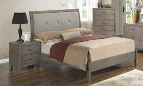 G1205AFBCHN 3 Piece Set including Full Bed, chest and Nightstand  in Grey