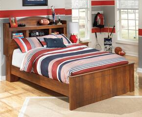 Barchan Twin Bedroom Set with Bookcase Bed and Nightstand in Warm Brown