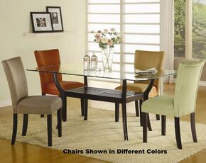 101491GSET5 Bloomfield 5 PC Rectangle Dining Set (Table and 4 Side Chairs with Gold Ochre Microfiber Upholstery)