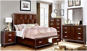 Safire Collection CM7616QSBDMCN 5-Piece Bedroom Set with Queen Storage Bed, Dresser, Mirror, Chest and Nightstand in Cherry Finish