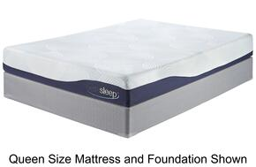 M97241/M81X42 9 Inch Gel Memory Foam Mattress and 2 Foundations Set in King Size