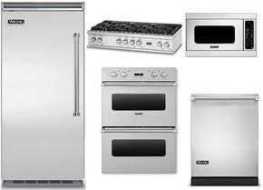 "5-Piece Stainless Steel Kitchen Package with VBI7360WLSS 36"" Bottom Freezer Refrigerator, VGRT5488BSS 48"" Gas Cooktop, VEDO1302SS 30"" Double Wall Oven, VMOC206SS 24"" Microwave with 27"" Trim Kit, and VDW302SS 24"" Dishwasher"