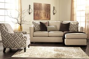 Carlinworth Collection 84401SCAC1 2-Piece Living Room Set with Sofa Chaise and Accent Chair with Geometric Pattern