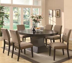 Myrtle 103571SET 7 PC Dining Room Set with Table + 6 Side Chairs in Rich Coffee Finish