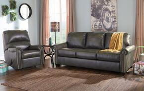 Lottie DuraBlend 380012539SET 2-Piece Living Room Set with Rocker Recliner and Queen Sofa Sleeper in Slate