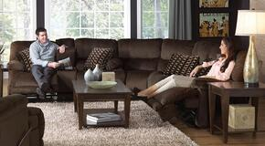 Riley Collection 61229-8-1-1870-09/2752-49 3-Piece Living Room Set with Power Reclining Loveseat, Corner Wedge and Power Reclining Sofa in Coffee