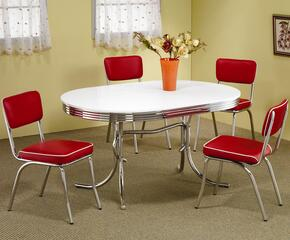 2065SETRED Cleveland 5 Pc Dining Set (Table and 4 Chairs)