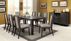 Eris I Collection CM3213TDTB8SC 10-Piece Dining Room Set with 60